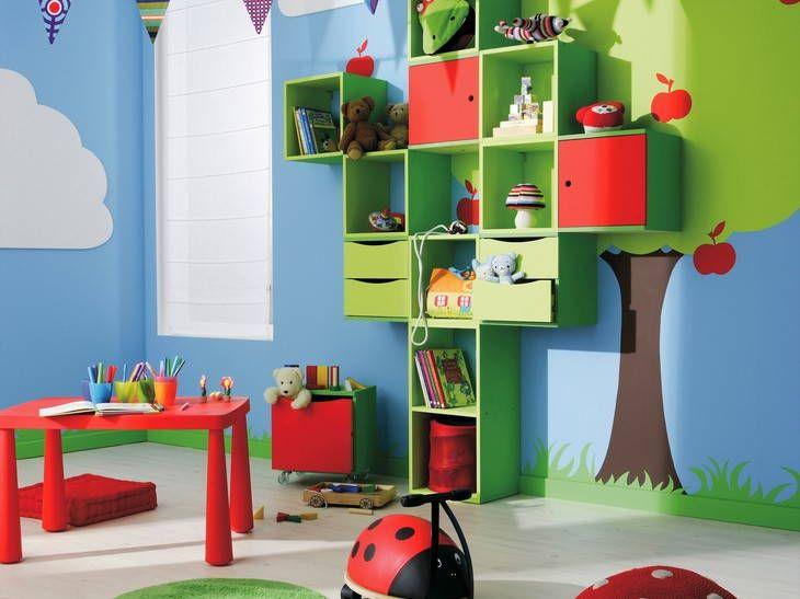 Chambre enfant Leroy Merlin - Chambre enfant très coloré avec une ...