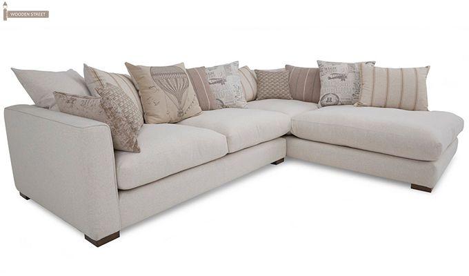 Adler L Shape Sofa White Beautifully Designed Wooden L Shape Corner Sofa A Perfect Furniture For Your L Shaped Sofa White Sofas How To Make Corner Sofa