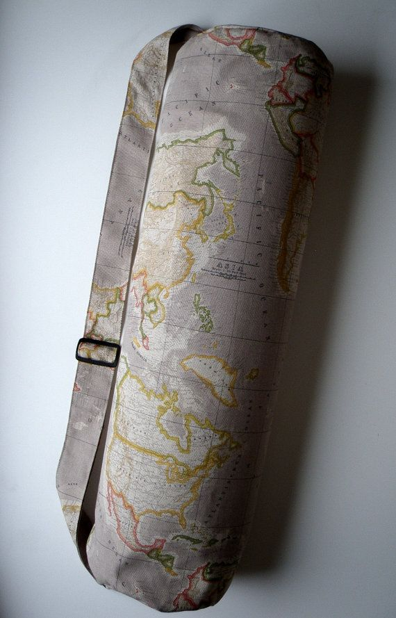 Xl yoga mat bag world map handmade babiminis gumiabroncs Gallery