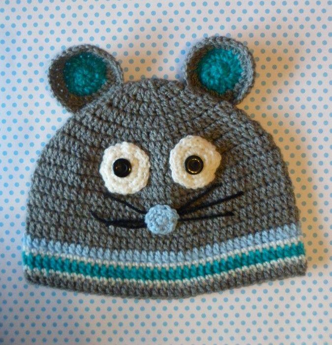 Gorro Ratón | Nashka Crochet | Feria Central | Indumentaria Niños ...