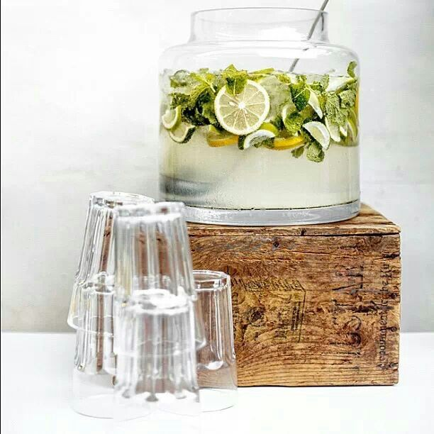 Entertaining! Love the punch bowl..gin, tonic, sugar syrup, slices of lemon & lime, mint & lots of ice....