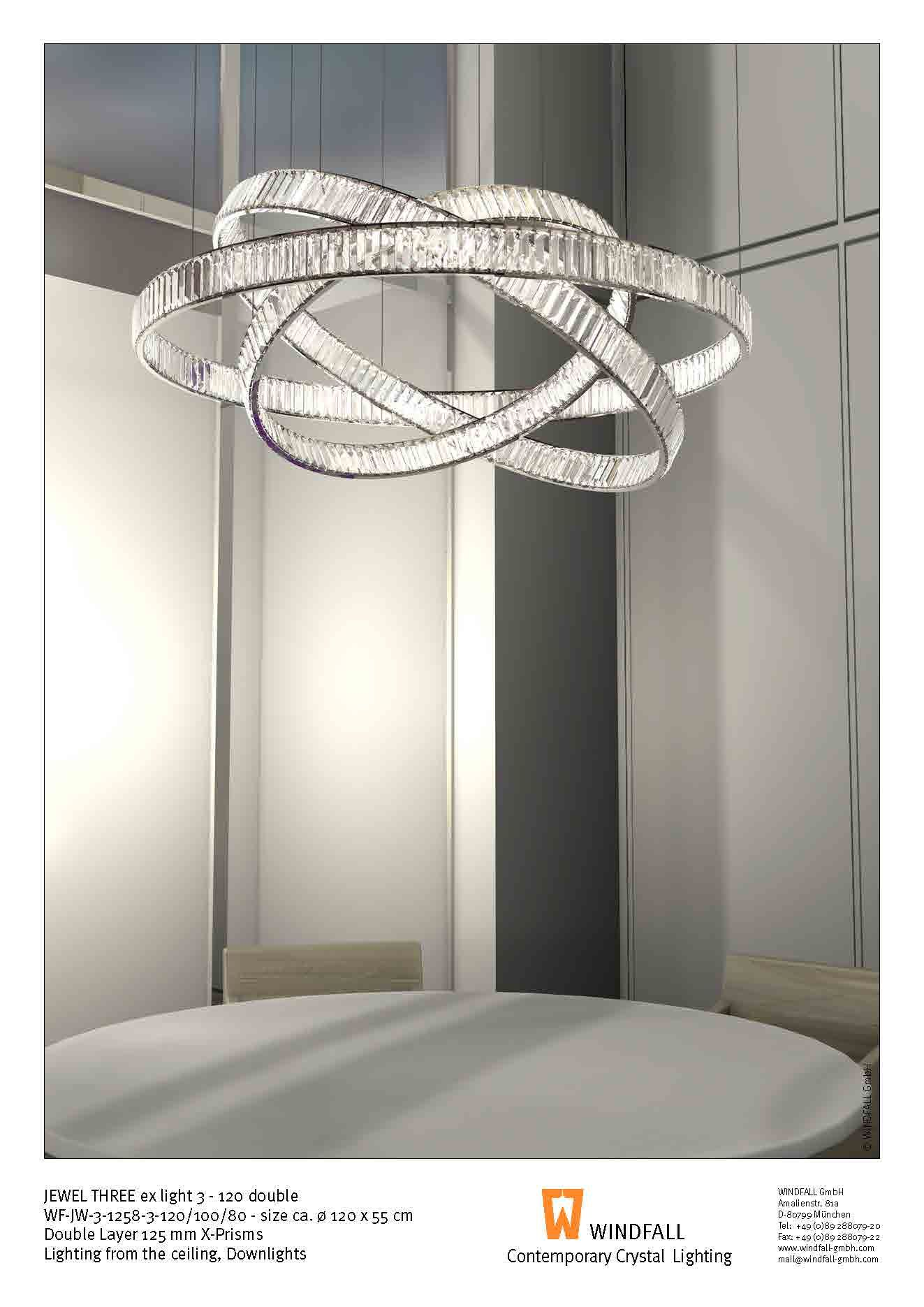 The Jewel Three Ex Light By Windfall Illuminated By Ceiling Down