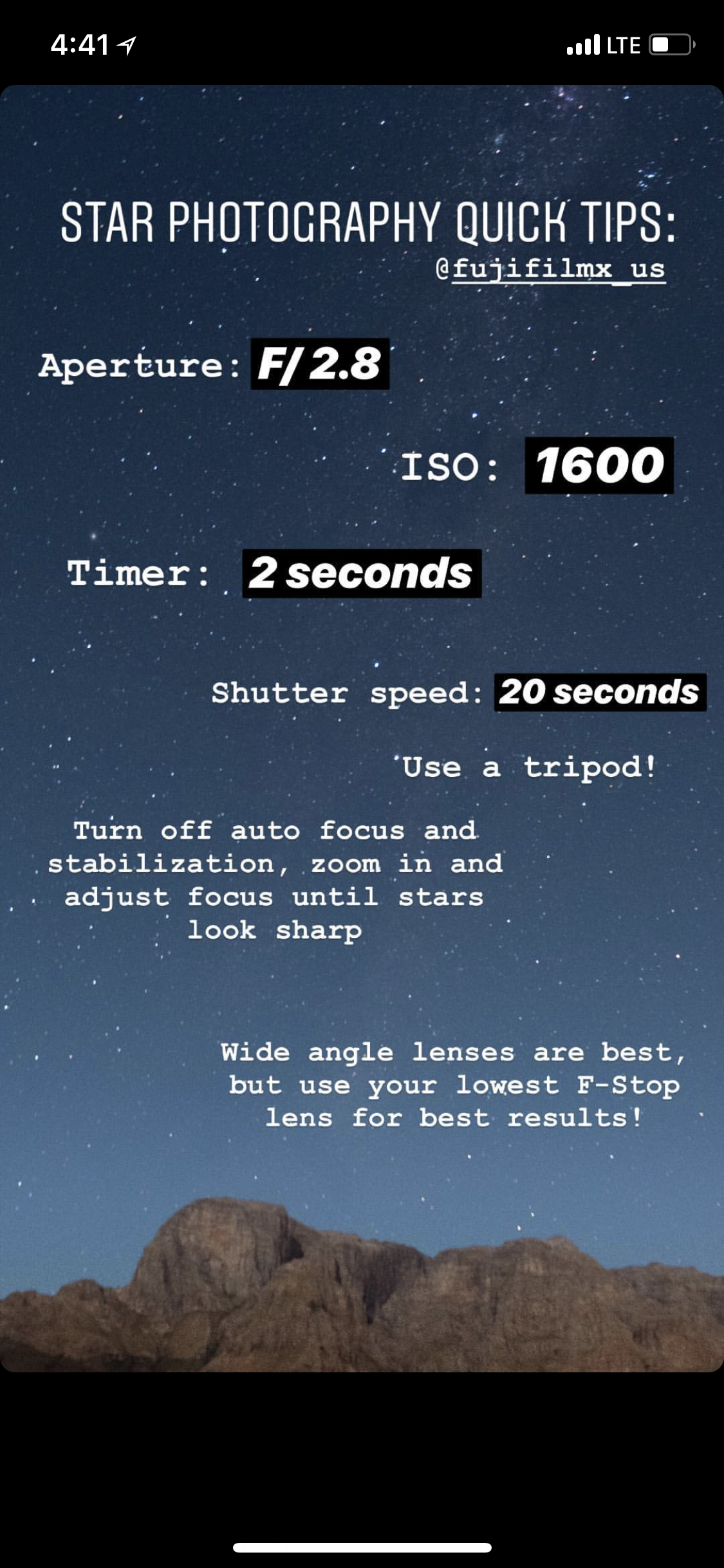 Photo of Star photography tips