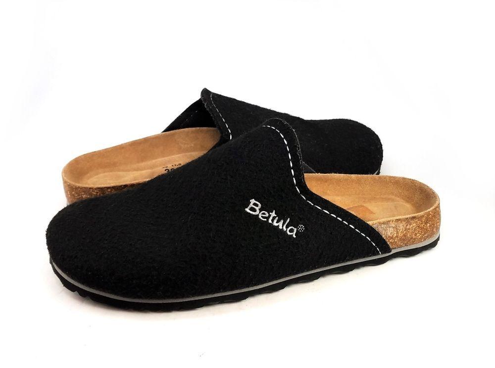 89cd038ba8a3 Birkenstock Betula Clogs Black Textile Soft-Footbed Mens Size 46 US 13 N   BetulaBirkenstock  Clogs