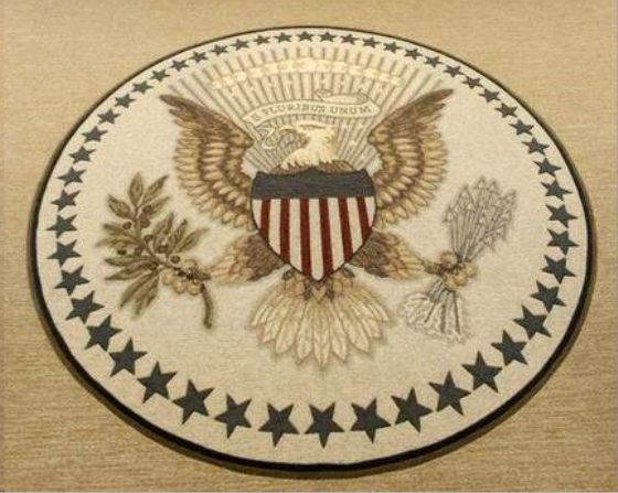 Presidential Seal Depicted On President S New Oval Office Carpet