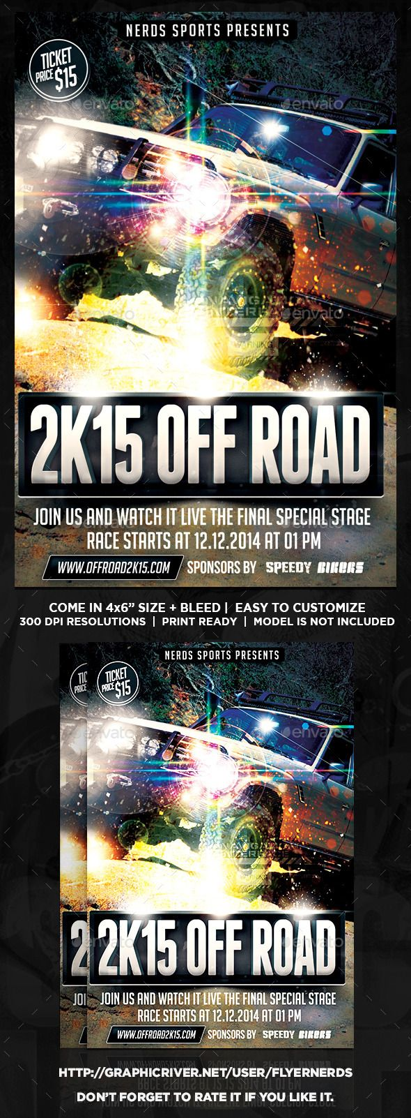 Off Road K Exhibition Sports Flyer  Cars Road Racing And Racing