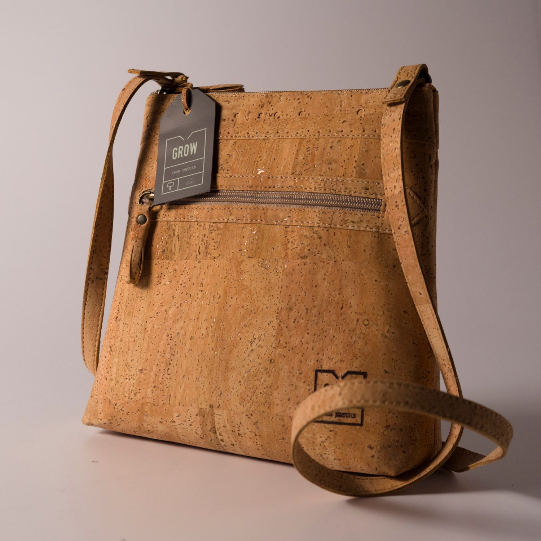 1ef32fc558fb Genuine cork leather crossbody bag