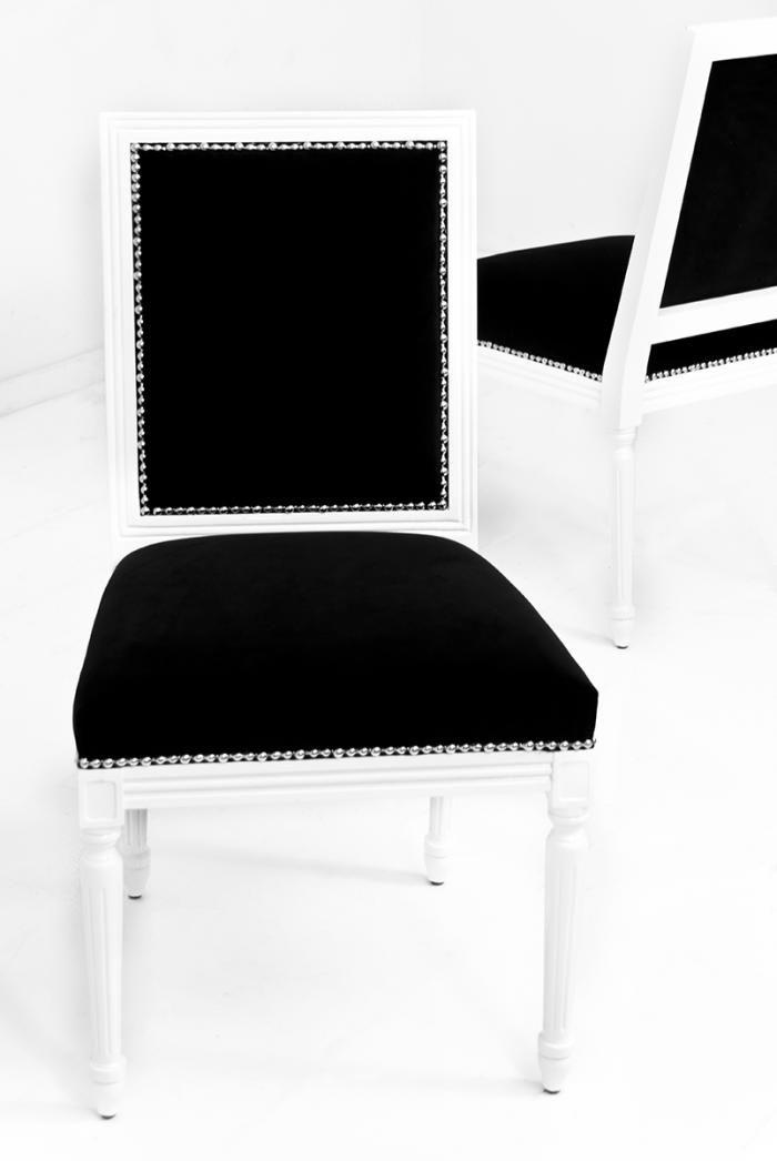 Bordeaux Dining Chair in Black Velvet   Black velvet, Bordeaux and ...
