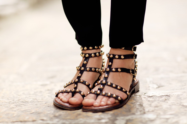 17234dfea30 Sam Edelman Eavan Studded Gladiator Sandals  140.00