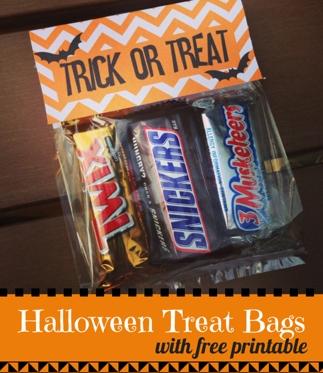 Halloween Treat Bags with Free Printable {Guest Post