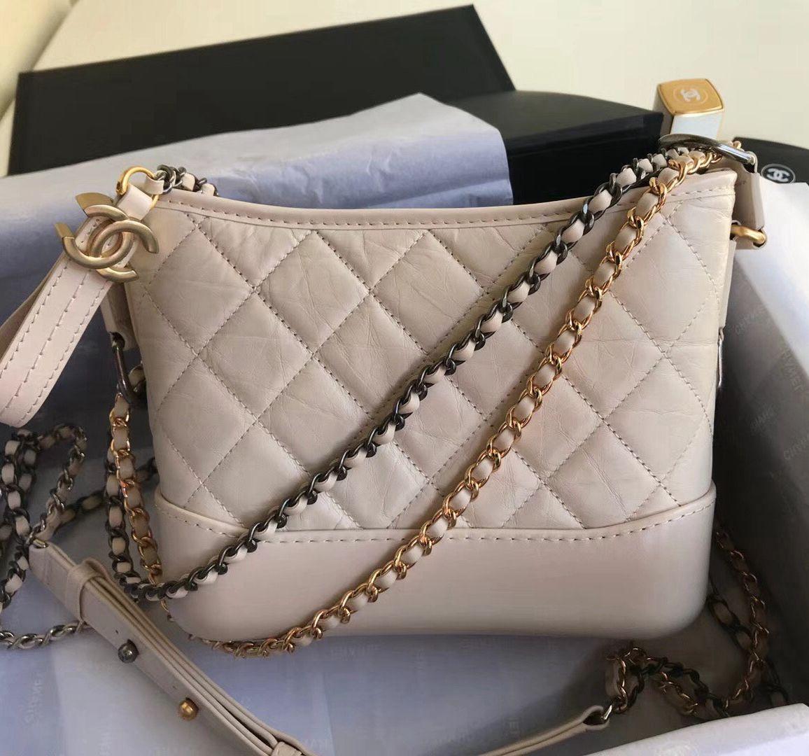 f0fb5a65a961 Chanel's Gabrielle Small Hobo Bag A91810 Nude 2018 | Chanel Handbags ...