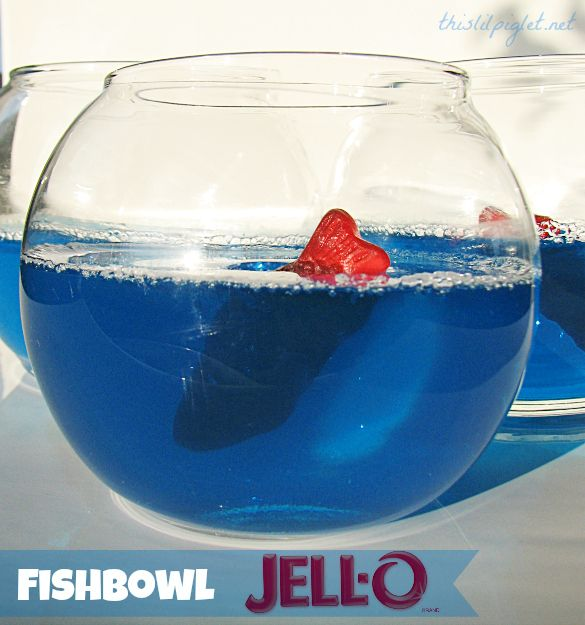Finding Nemo Party Ideas - Fishbowl Jello via @Stacey McKenzie McKenzie McKenzie McKenzie McKenzie Martin