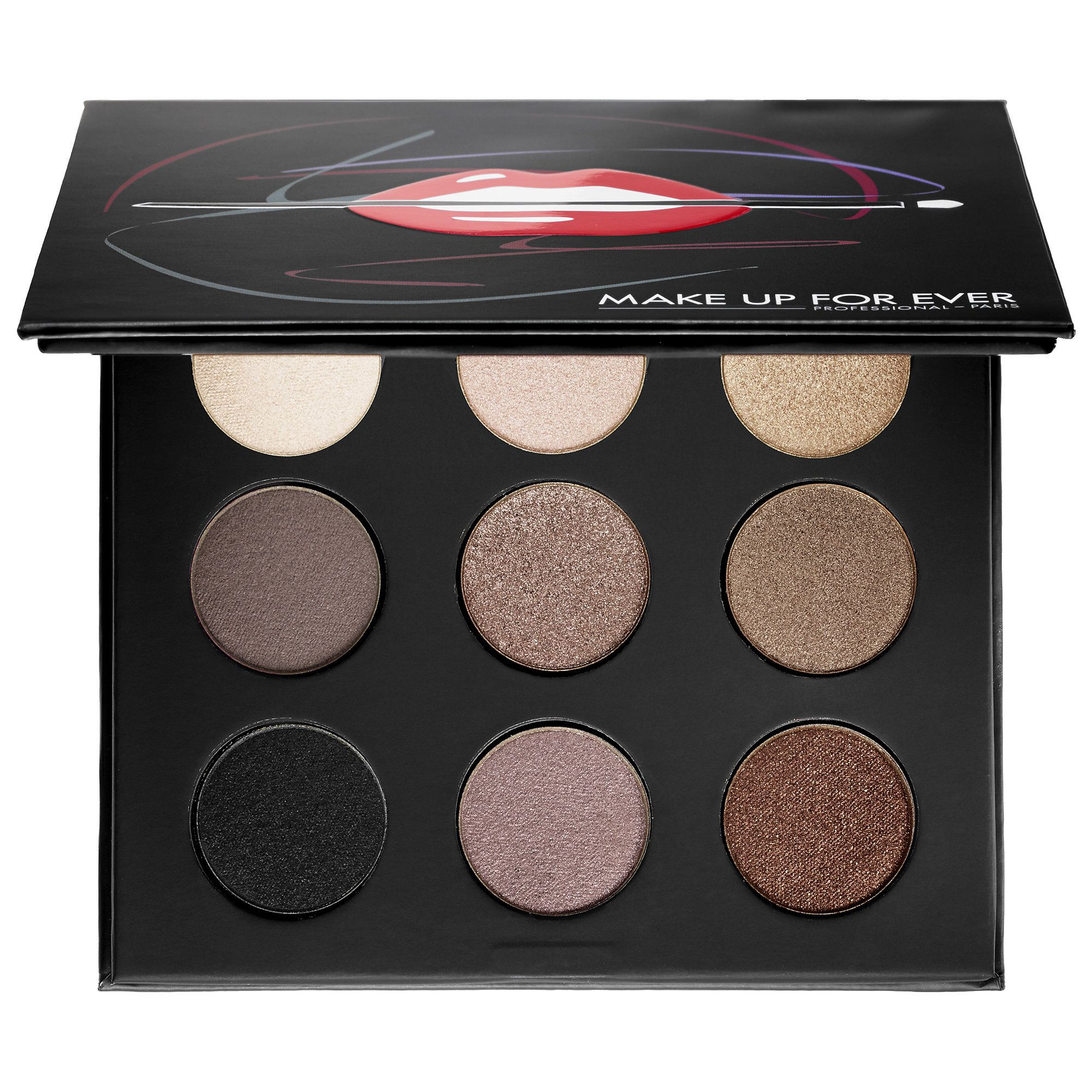 A collectible, eye shadow palette with nine musthave