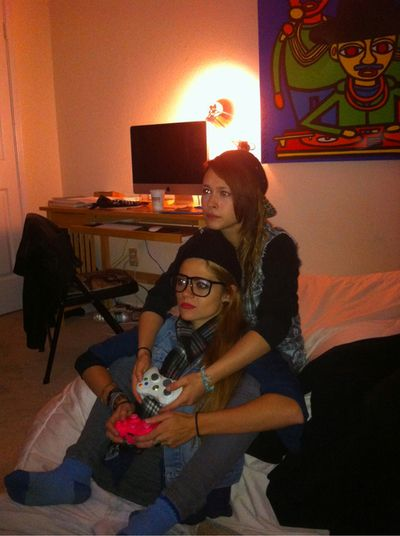 Lesbians Playing Video Games