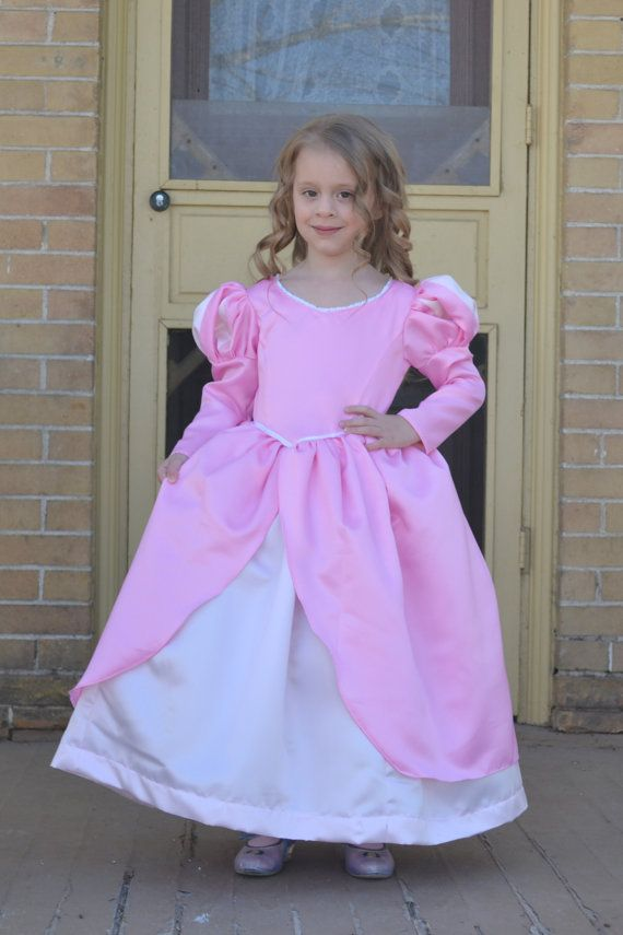 Ariel Little Mermaid Pink Ball Gown Costume Dress | Dress up, Pink ...