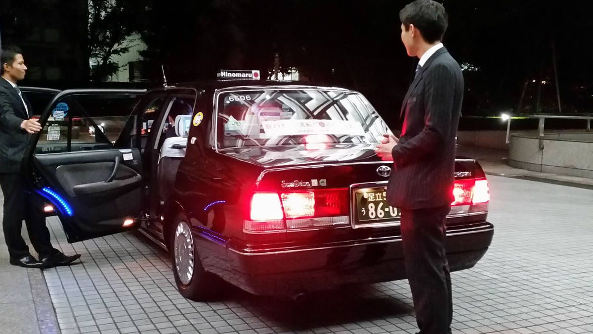 Toyota Crown Super Deluxe Taxi In Tokyo