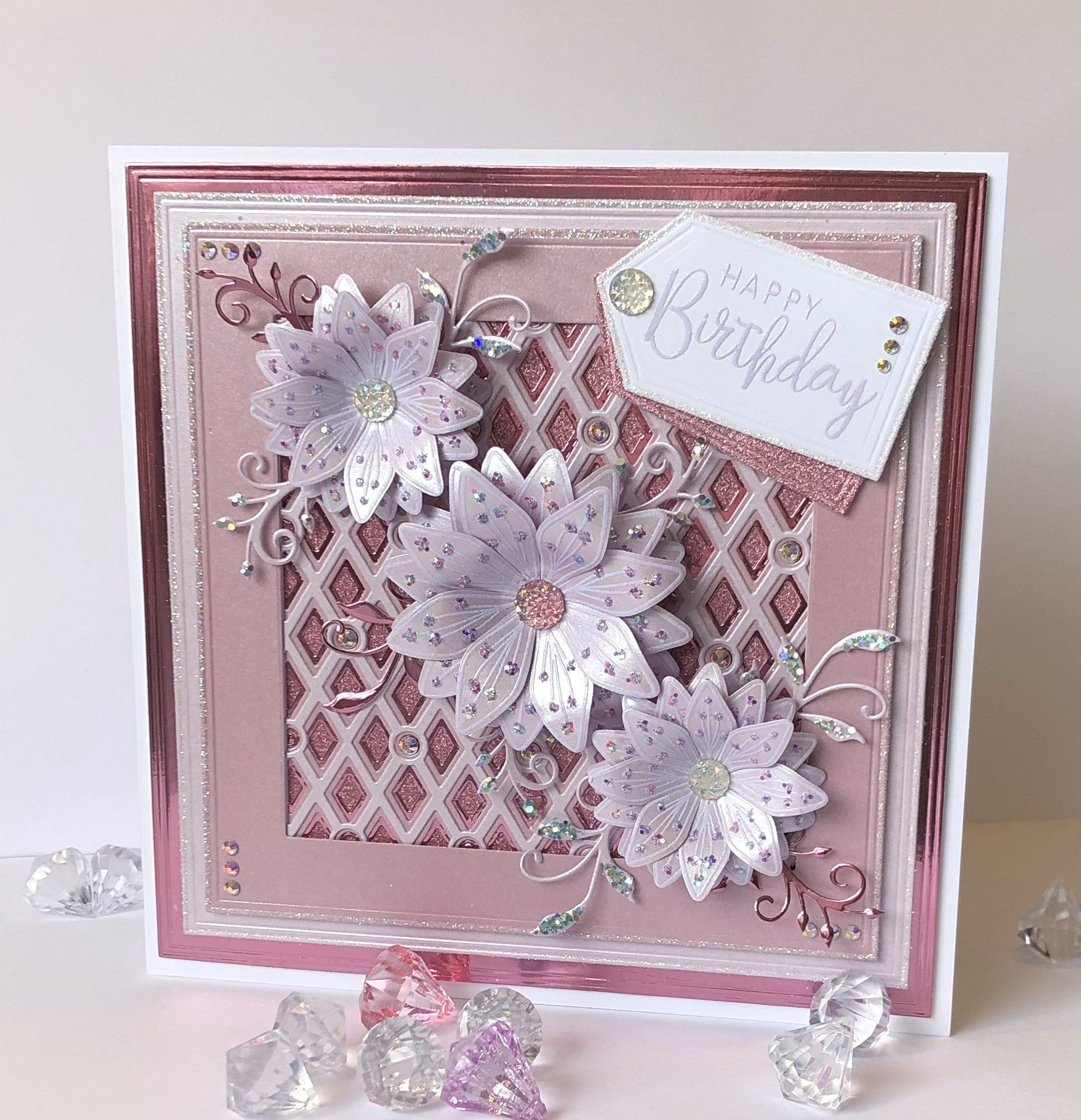 Lavender And Violet Handmade Luxury Boxed Birthday Card Etsy Chloes Creative Cards Boxed Birthday Cards Chic Cards Handmade