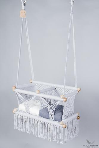 Twin Babies Swing Chair in Grey