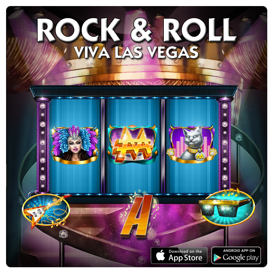 Rock & Roll Slot Vegas Suite. 4x5 Layout; Stacked Wilds