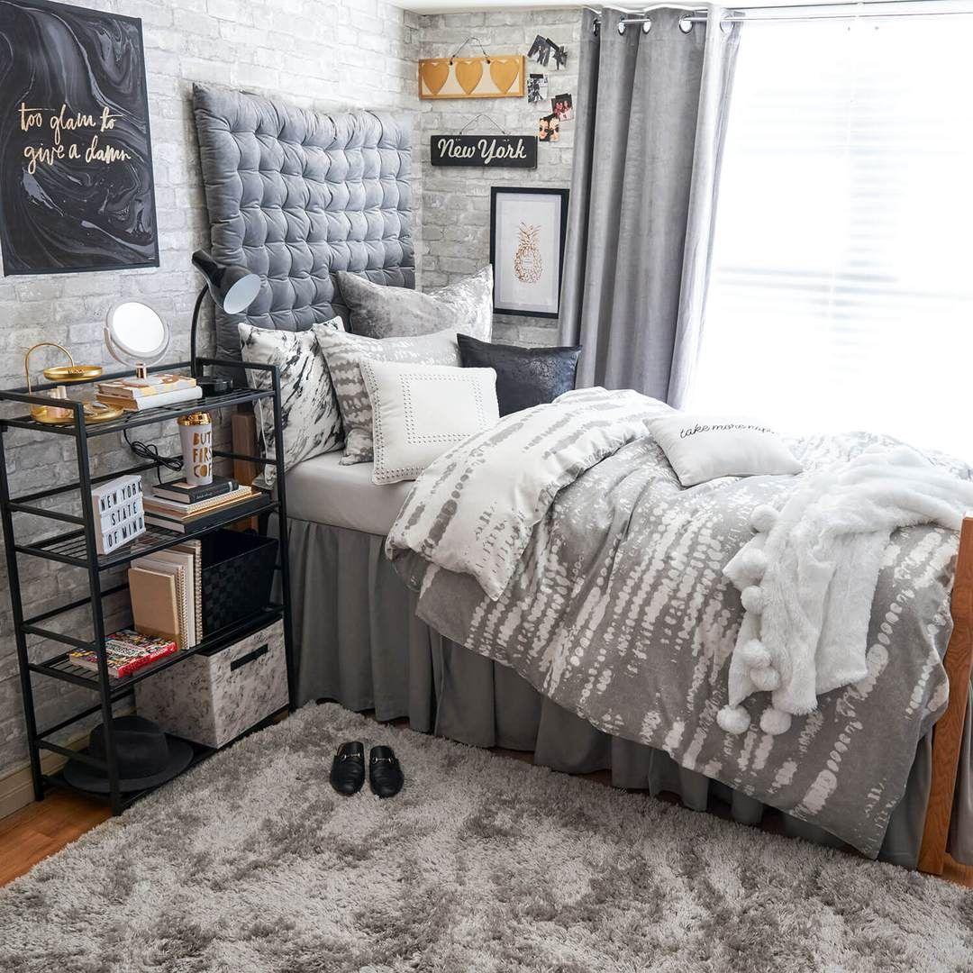 Grey Twin/Twin XL Velvet Tufted Headboard Cushion in 12  Dorm