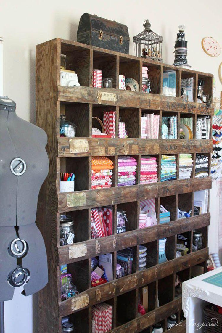 sewing studio inspiration craft storage sewing room. Black Bedroom Furniture Sets. Home Design Ideas