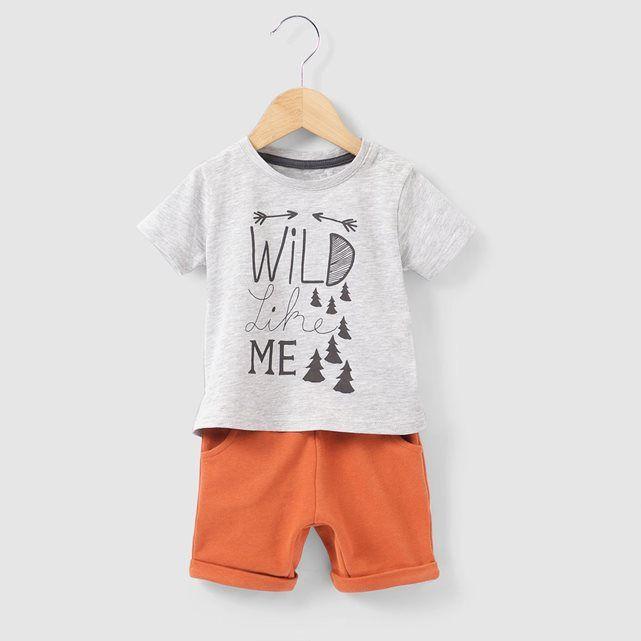 d93df001345bb Ensemble T-shirt et short 1 mois-3 ans R mini