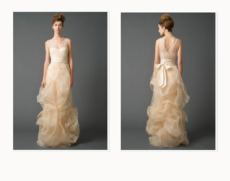 Vera Wang wedding gown. The skirt is ethereal. I love the tulle ...
