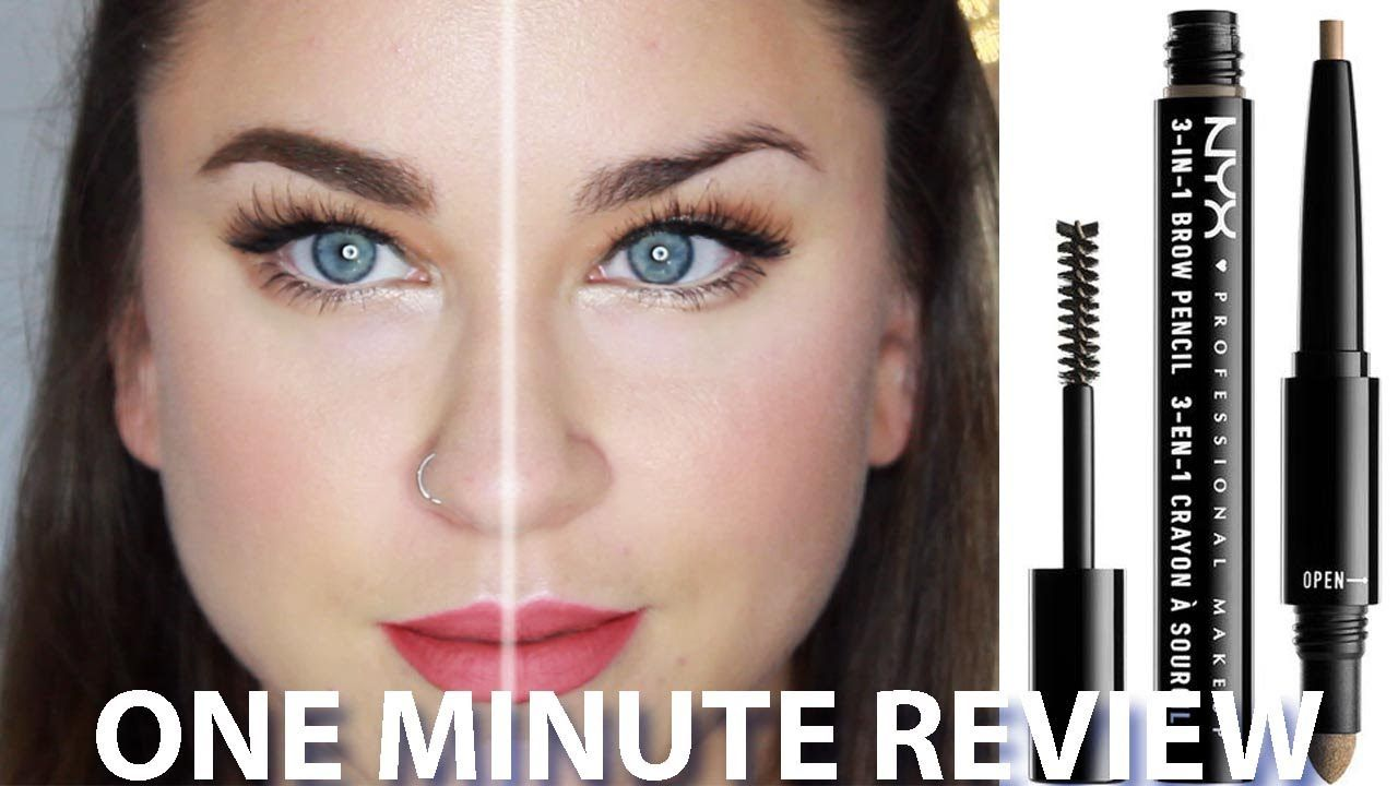 Nyx 3 In 1 Brow One Min Review Beauty Banter Nyx 3in1brow