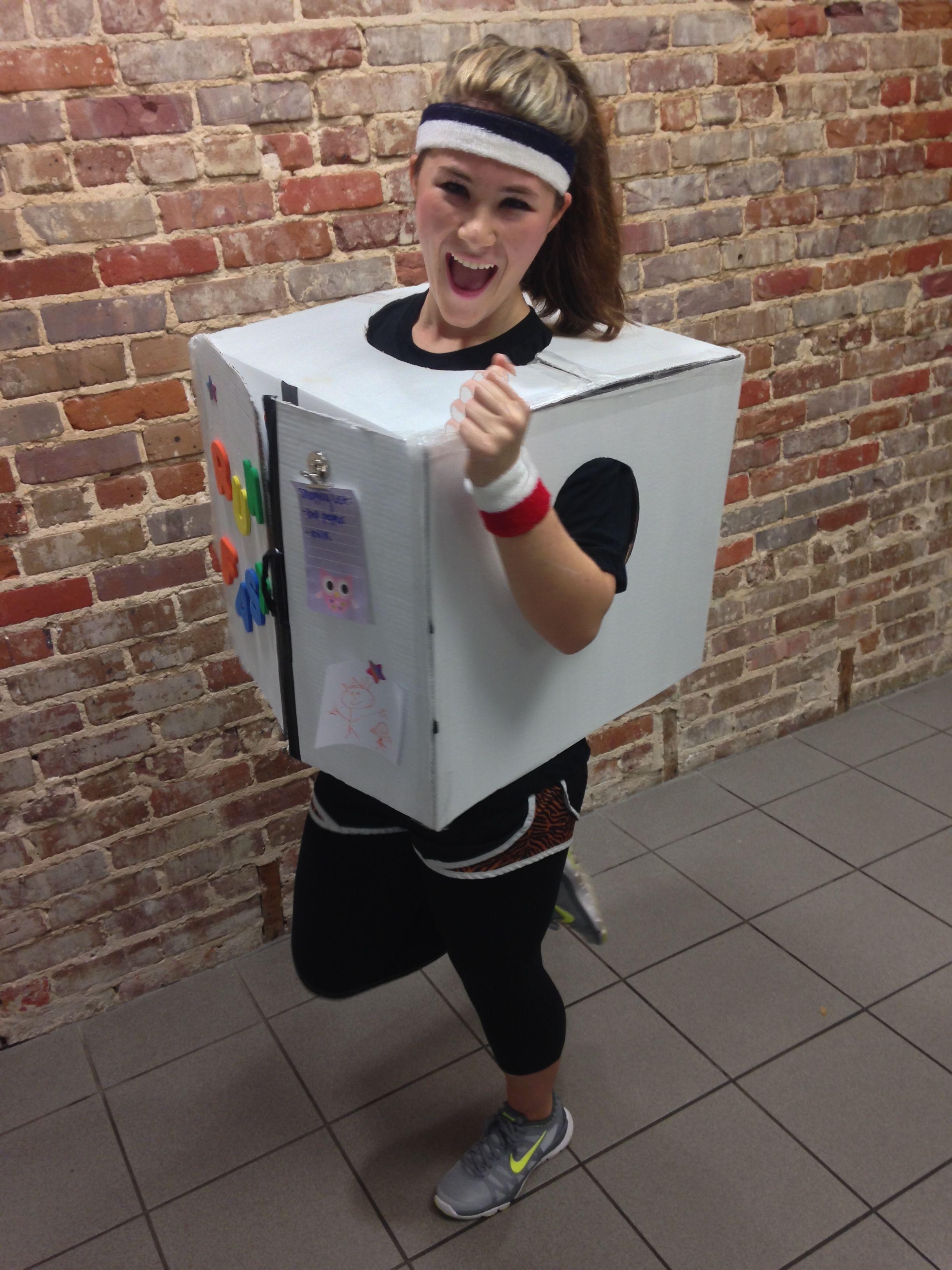 Running Refrigerator costume costume pun refrigerator
