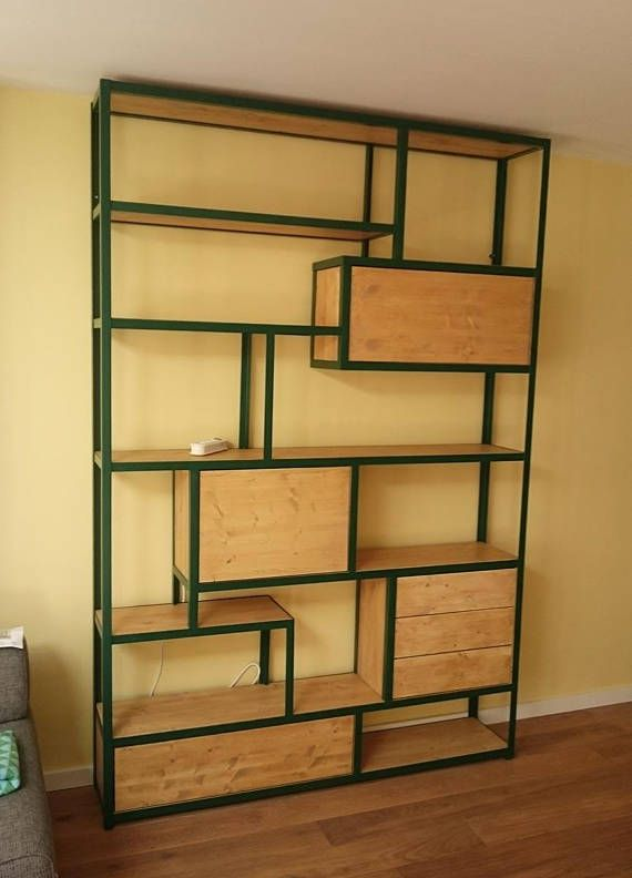Kast Stalen Frame.Steel And Wood Cabinet Mebel Wood Cabinets Shelf Furniture En