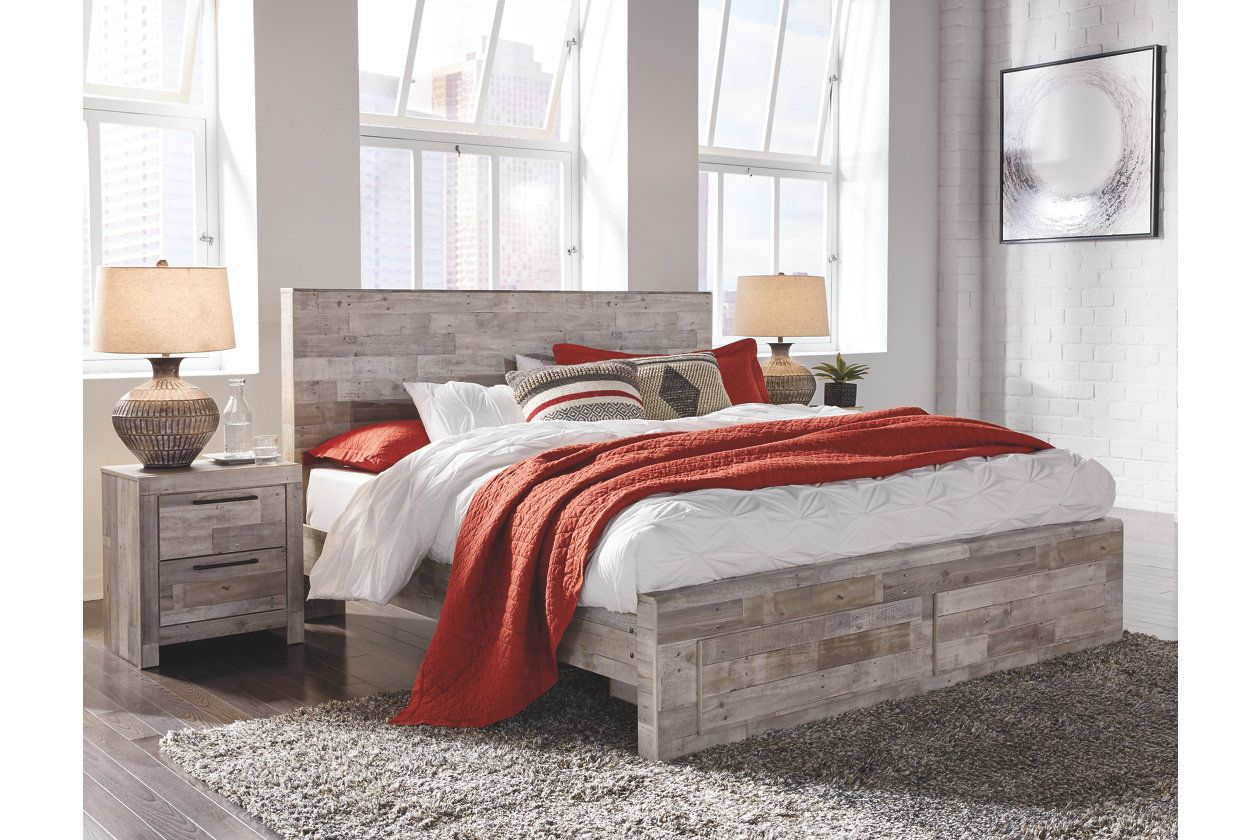 Effie Queen Panel Bed With 2 Storage Drawers With Images