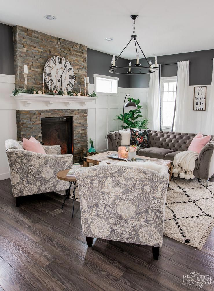Beautiful Traditional Living Room With Modern Accents Grey