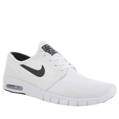 fantastic savings popular brand new authentic mens nike sb white & black stefan janoski max trainers ...