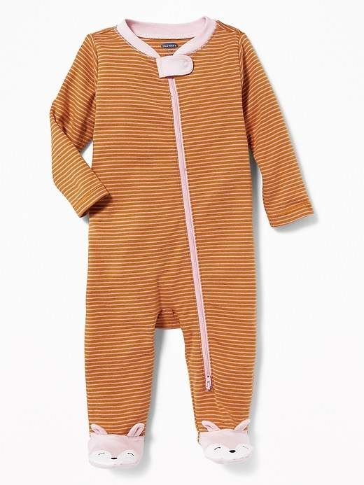 f6cf1159d Footed Fox-Critter One-Piece for Baby