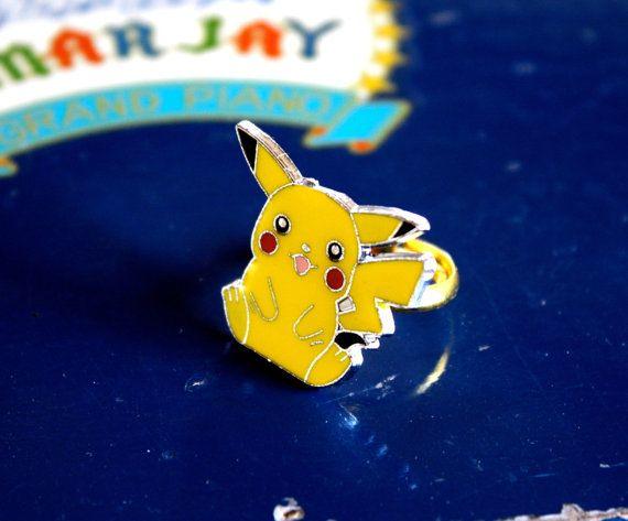 Pikachu Enamel Cocktail Ring
