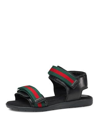 a5638cc48c1cc3 Gucci Leather Grip-Strap Sandal
