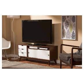 Armani TV Cabinet   White/Brown   Baxton Studio : Target