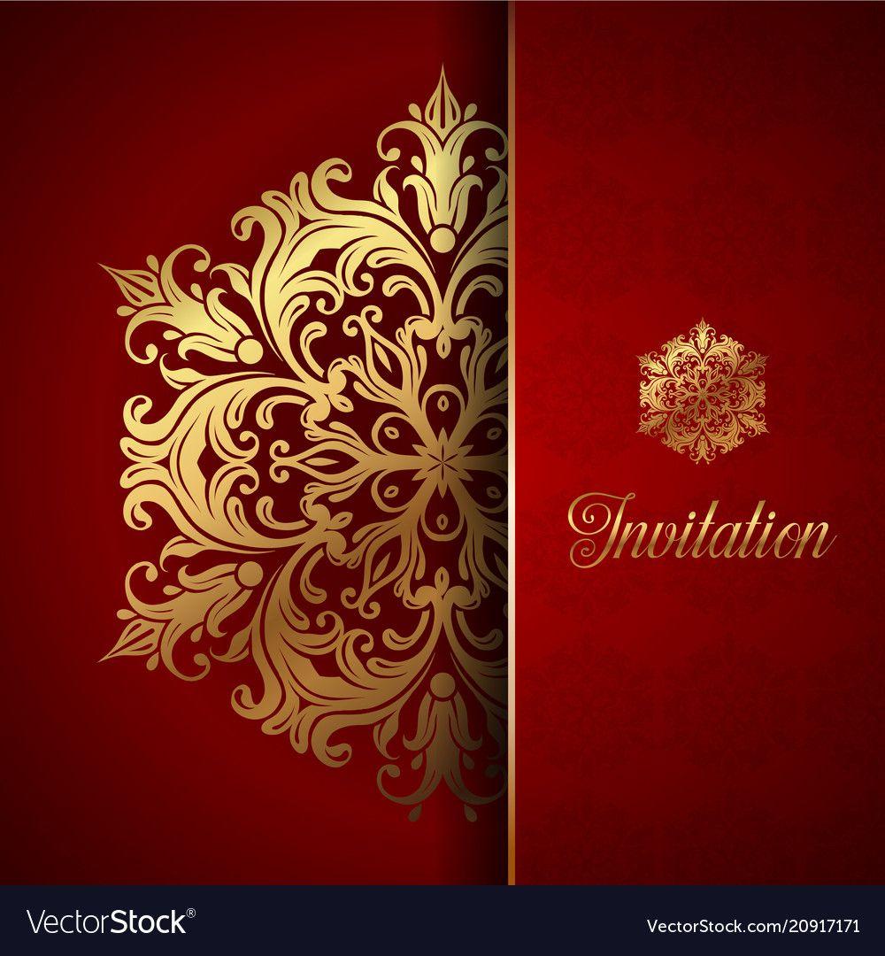 Decorative Invitation Background Vector Image On Wedding Invitation Background Invitation Background Background Design