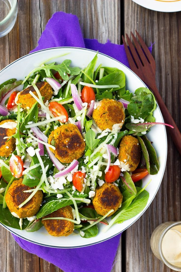 Roasted Carrot Falafel Salad with Citrus Tahini Dressing Roasted Carrot Falafel Salad with Citrus Tahini Dressing -
