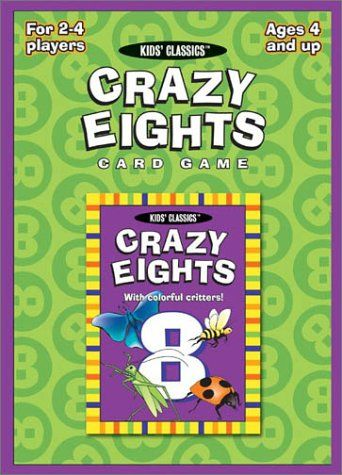 Crazy Eights Card Game (Kids Classics) by Us Games Systems ...