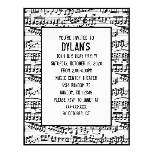 Get music themed birthday party invitations download this invitation get music themed birthday party invitations download this invitation for free at https filmwisefo Images