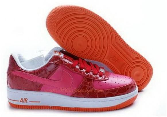 http://www.asneakers4u.com 315186 661 Nike Womens Air Force 1 Premium Astor Pink White Total Orange1 C030431