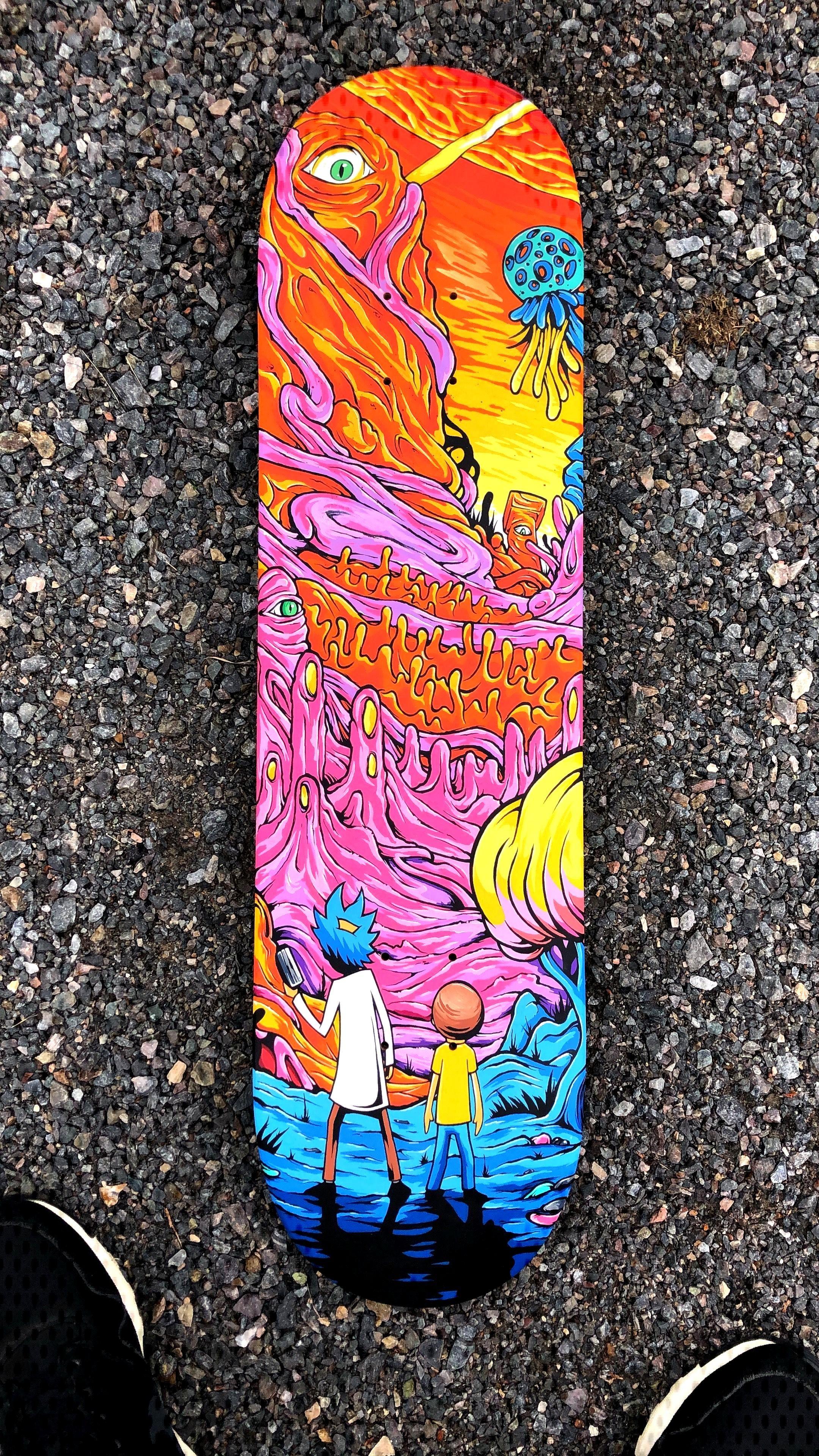 Wubbalubbadubdub Rickandmorty Getschwifty Skateboard