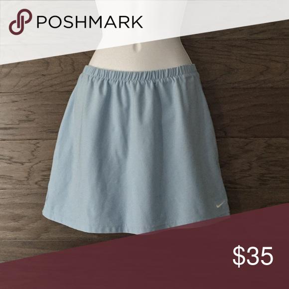 "6543d67dc NIKE Tennis Skirt- Large (12-14) NIKE Dri-Fit Tennis Skirt Size: Large  (12-14) 88% Polyester 12% Spandex Elastic Waistband Measurements: 14 1/2""  Waist ..."