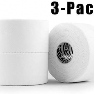 White Athletic Sports Tape Very Strong Easy Tear No Sticky Residue Best Tape For Athlete Medical Trainers Perfect On Bat Lacrosse Hockey Stick Lifters C Sports Tape Lifter Sports