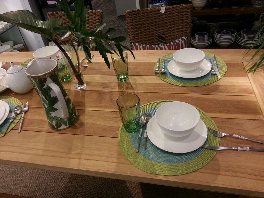 For the dinning table