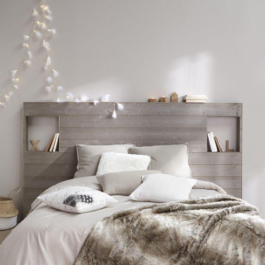 Une t te de lit pleine d 39 esprit int grant les chevets - Decoration tete de lit ...