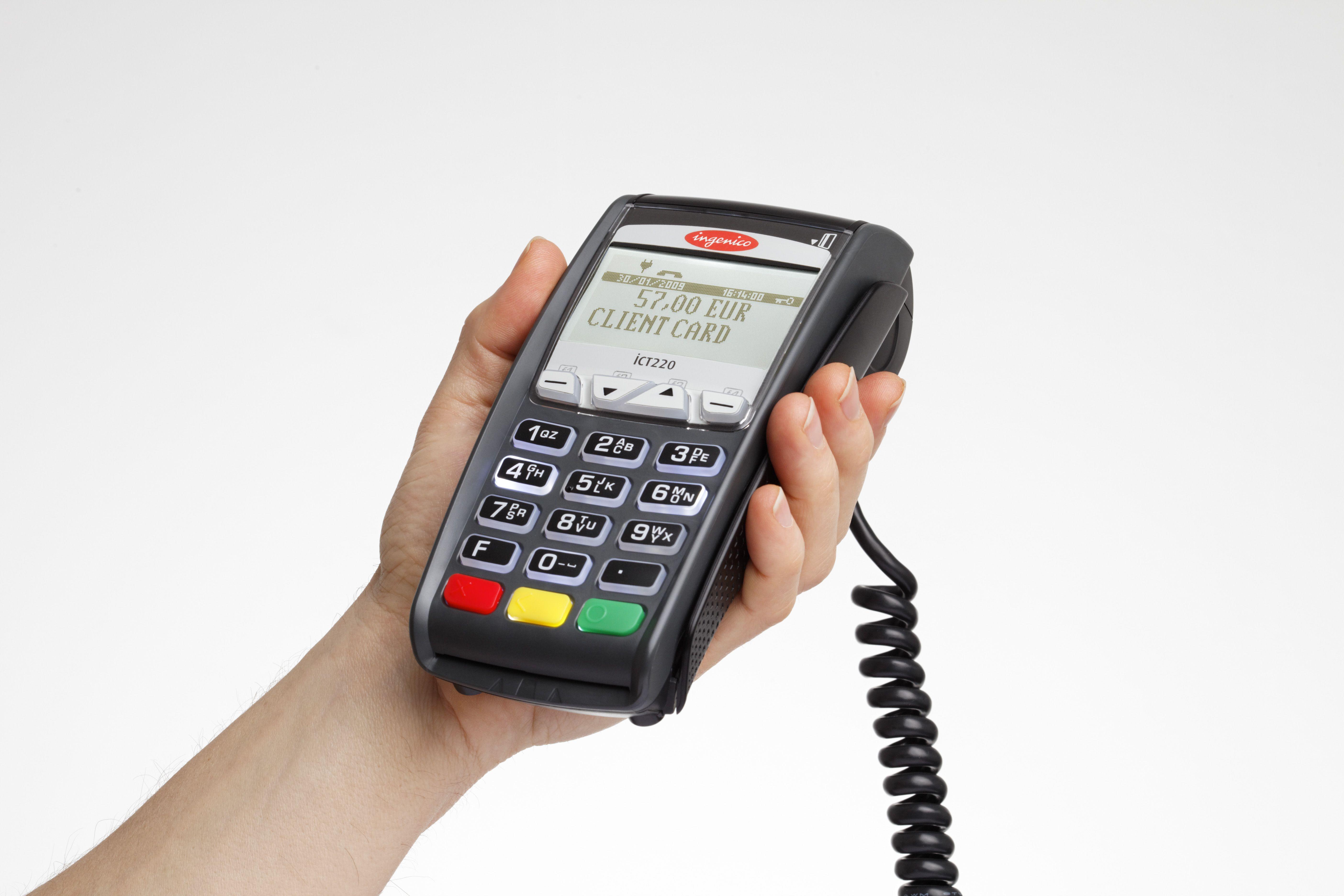 Ingenico ict series credit card machine money saver