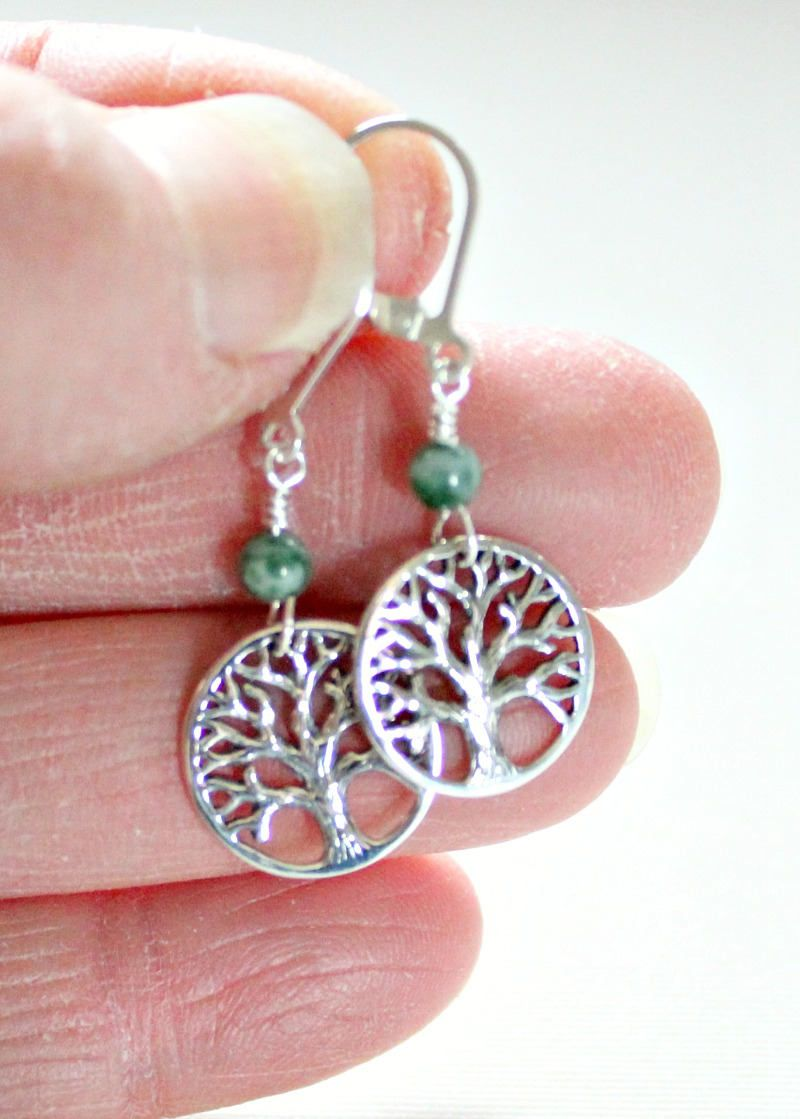 40th50th Birthday Gift For WomanFor Best FriendTree AgateTree Of LifeEarringsMothers DayFrom DaughterGraduation GiftFor GirlUnique By