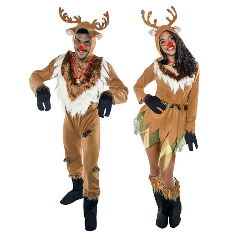 Pareja renos navide os disfracesnavidad - Disfraces navidenos originales ...